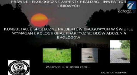 Ekologia a budowa dróg cz.I